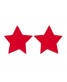 Boucles d'oreilles petite étoile à clip rouge - Marion Godart