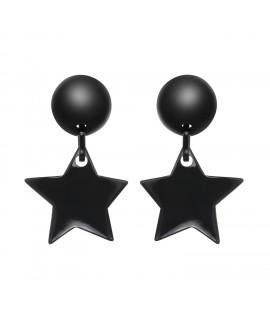 Boucles d'oreilles étoile noire à clip - Marion Godart