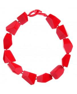 Collier géométrique rouge en résine Marion Godart